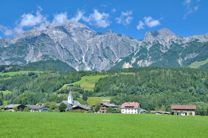 idyllic Village of Leogang in Salzburger Land near Zell am See,Alps,Austria